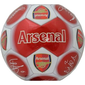 Arsenal FC Size 5 Signature Football-Red | Footballs | English Premier League Club Footballs | Arsenal FC Merchandise
