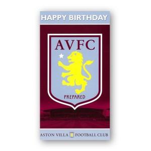 Aston Villa FC Birthday Card | Aston Villa FC Merchandise