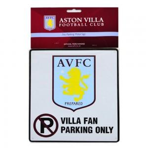 Aston Villa FC Fan Parking Sign  | Aston Villa FC Merchandise