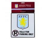 Aston Villa FC Fan Parking Sign