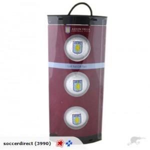 Aston Villa FC Set of 3 Golfballs | Aston Villa FC Merchandise