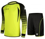Kelme Goalkeeper Shirt and Short Set Adult Size Medium Neon Yellow/Black