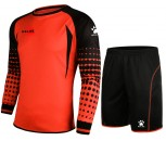 Kelme Goalkeeper Shirt and Short Set Adult Size Medium Neon Orange/Black