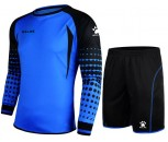 Kelme Goalkeeper Shirt and Short Set Adult Size Small Neon Blue/Black