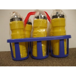 Water Bottle Carrier and Six Bottles  | Coaching Equipment | Matchday Equipment | Coaching & Matchday Equipment