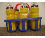 Water Bottle Carrier and Six Bottles