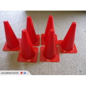 38cm Witches Hat Cones Set of 6  | Coaching Equipment | Matchday Equipment | Coaching & Matchday Equipment