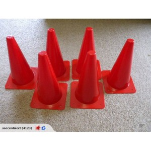 38cm Witches Hat Cones Set of 12  | Coaching Equipment | Matchday Equipment | Coaching & Matchday Equipment